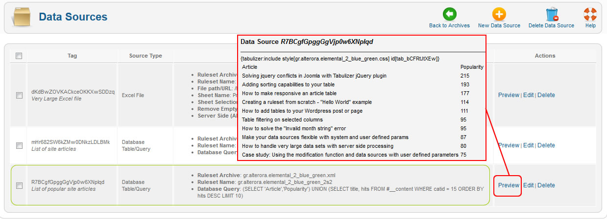 How to display database query results as HTML table in your