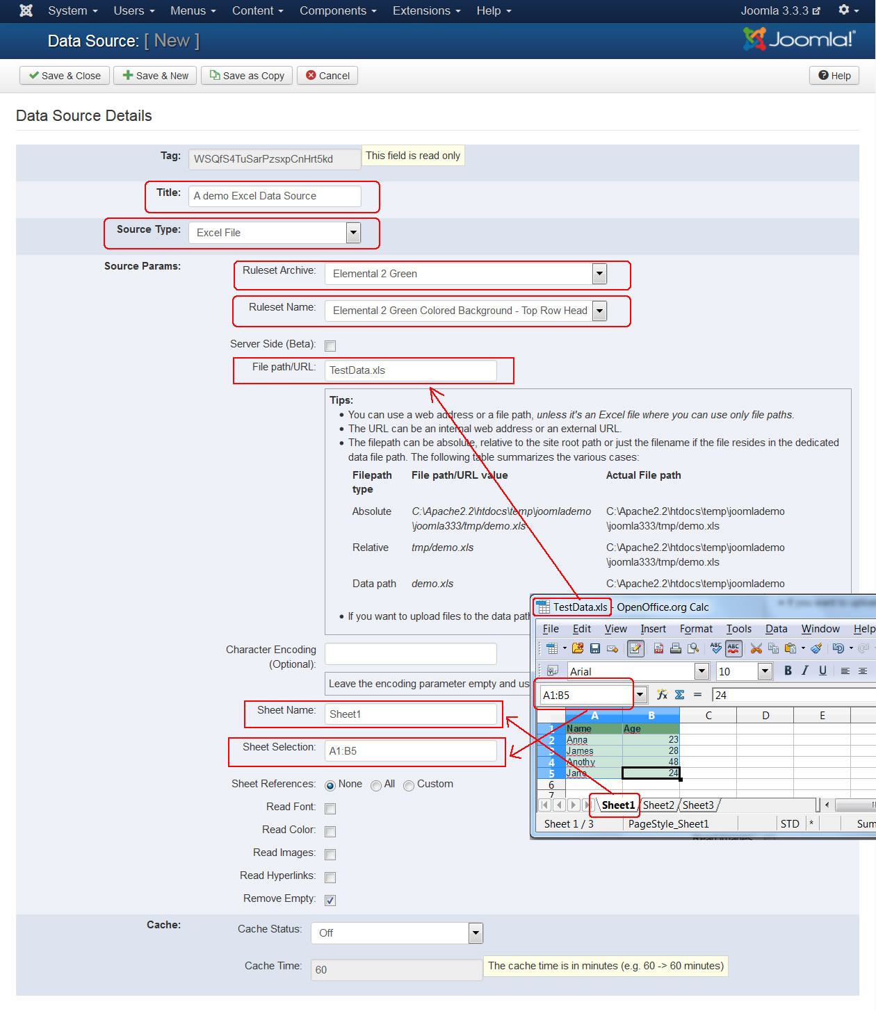 How to import data from an Excel Spreadsheet dynamically