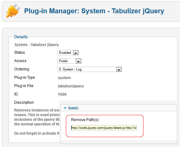 Solving jquery conflicts in Joomla with Tabulizer jQuery plugin