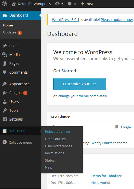 Create a data table in Wordpress with advanced search